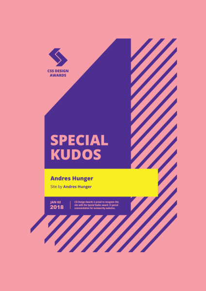 Css Design Awards Andres Hunger