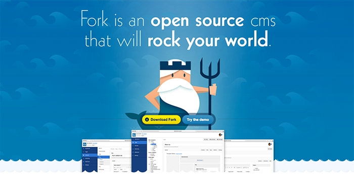 Fork Open source CMS